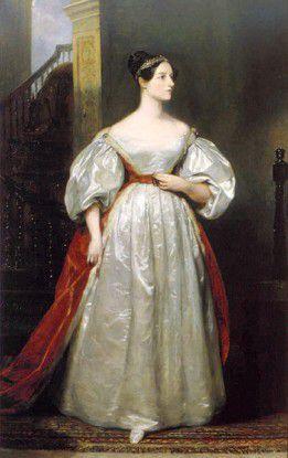 """Die britische Mathematikerin Ada Lovelace, Tochter des einflussreichen Spätromantikers Lord Byron, schrieb für den nie fertiggestellten mechanischen Computer """"Analytical Engine"""" das erste Programm."""