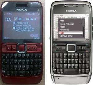 Das E63 von Nokia ähnelt dem E71, ist jedoch billiger und bietet weniger Funktionen.
