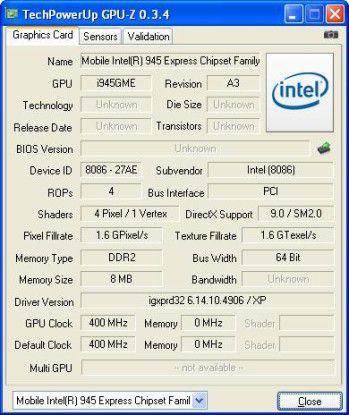 MSI Wind Neton AP1900: Ein Garant für niedrigen Stromverbrauch ist Intels GMA-Chipsatz.