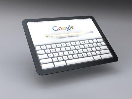 Konzept von Google: Tablet PC mit Chrome OS