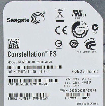 Server-Festplatte Seagate Constellation ES 2 TB ST32000644NS