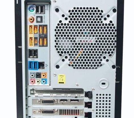 Anschlussvielfalt beim Mifcom Phenom II 955 - HD5850 Silent