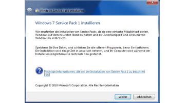 SP1 für Windows Server 2008 R2 und Windows 7
