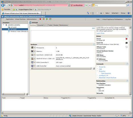 VMware Server 2.0: Zwei gleichnamige VMs.