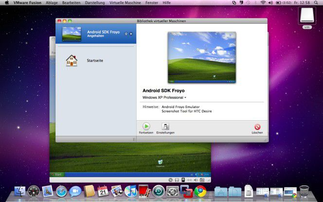Windows auf dem Mac: VMware Fusion in Aktion.
