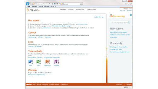 Oberfläche: Anwendern wie Administratoren steht das Webportal zur Konfiguration zur Verfügung.
