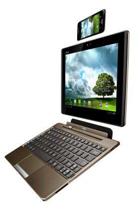 3-in-1-Gerät: Das Asus Padfone mit Station und Tastatur