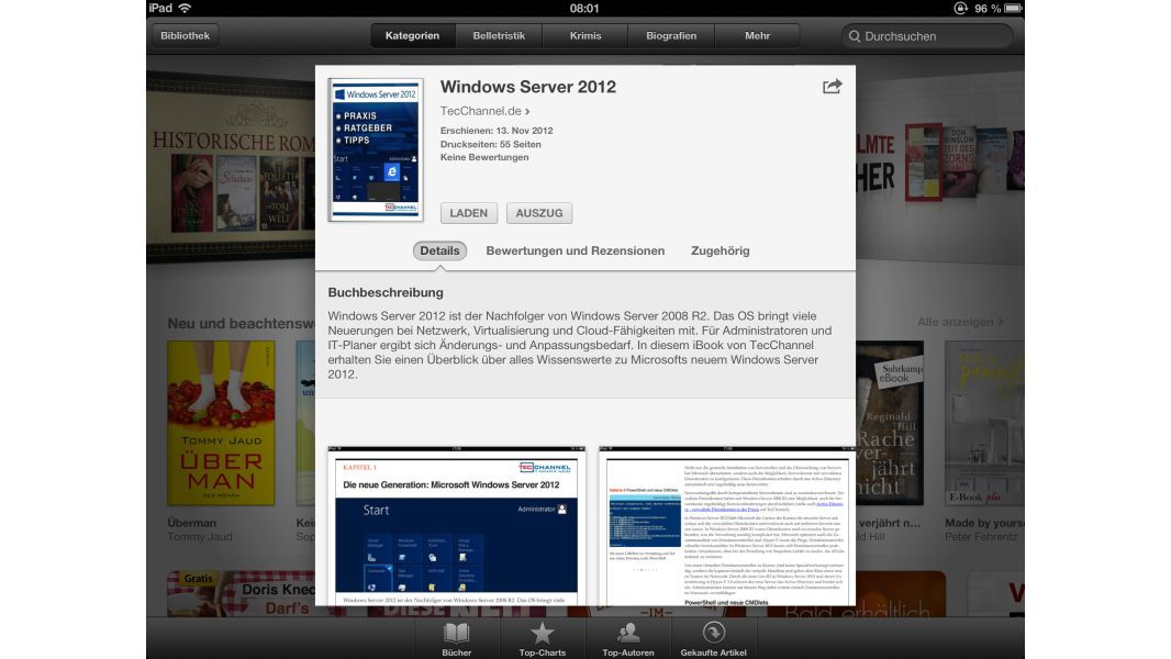 TecChannel iBook für Apple iPad: Windows Server 2012
