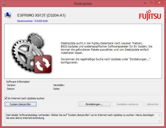 Anwenderfreundlich: Das Fujitsu-DeskUpdate unterstützt den Nutzer bei Aktualisierung des Systems.