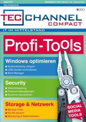 TecChannel Compact 06/2013: Auf über 160 Seiten nützliche Tools für die Bereiche Windows, Security, Storage, Netzwerk und Server.