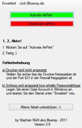 Kontaktaufnahme: Mit dem AirPrint Activator drucken Apple-Geräte über einen PC Dokumente aus.