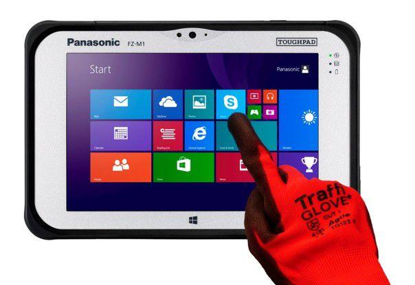 Auch robuste Tablets können topmoderne Technik unter der harten Schale haben: Das 7-Zoll-Tablet Panasonic Toughpad FZ-M1 kommt beispielsweise mit Windows 8 und einem extrem hellen, touch-sensitiven Display.