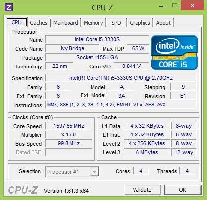Ivy-Bridge-CPU mit 2,7 GHz.