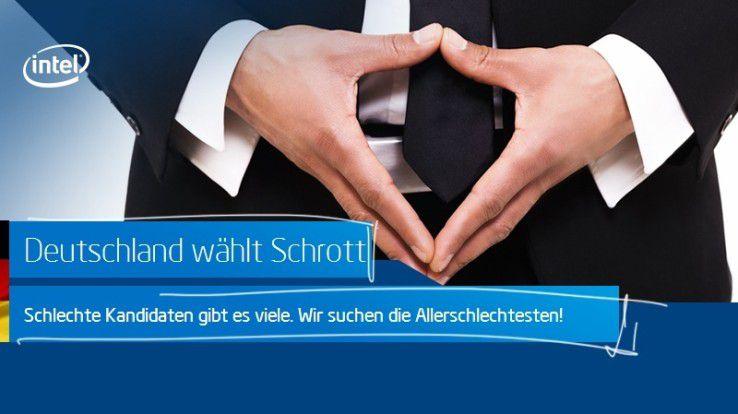 Beim Intel-Wettbewerb »Deutschland wählt Schrott« gibt es Hardware für 10 Jahre zu gewinnen.