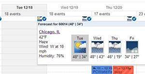 Google checkt das Wetter für Sie