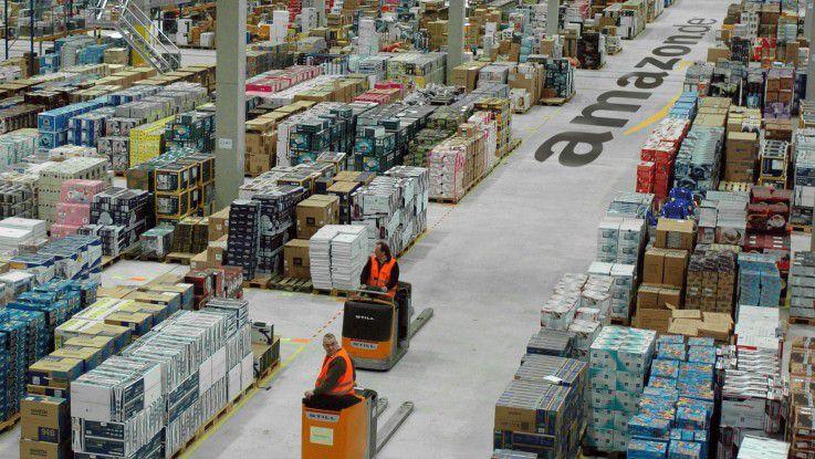 Blick ins Amazon-Logistikzentrum in Leipzig