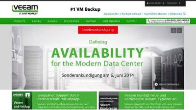 Veeam Availability Suite 8: Veeam kündigt Dauerlösung für Datenzentren an - Foto: Veeam Software