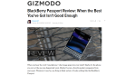 BlackBerry Passport: Das sagt die US-Presse