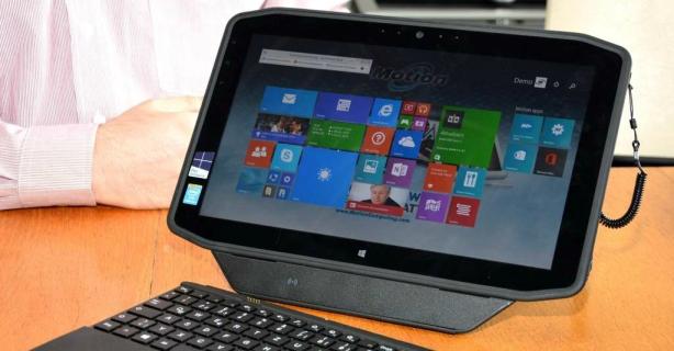 Ruggedized Slate mit Win8.1 und Core i7: Test: Motion R12 Tablet PC - Foto: Motion