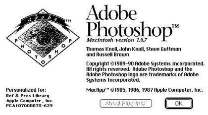 Wie alles begann... Adobe Photoshop 1.0.7