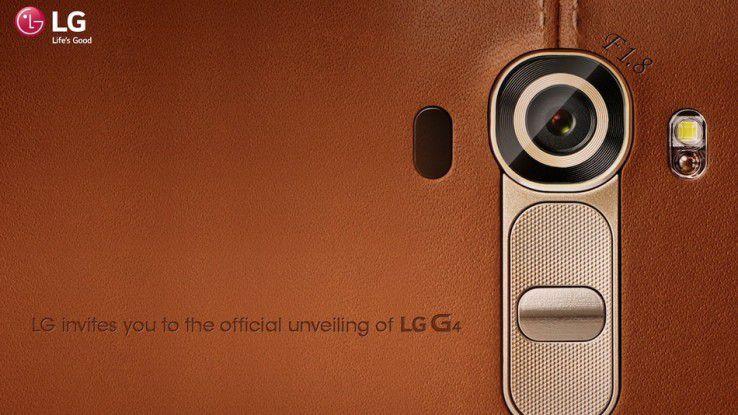 LG G4: Ein schicker Rücken...