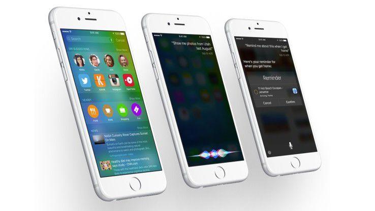 Vor iPhone 6s, iPhone 6s Plus, iPad Mini 4 und iPad Pro erhalten die älteren iOS-Geräte das neue Update.