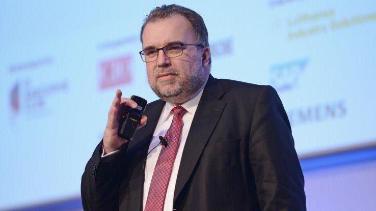 Siegfried Russwurm, Mitglied des Vorstands der Siemens AG, sprach auf den Hamburger IT-Strategietagen.