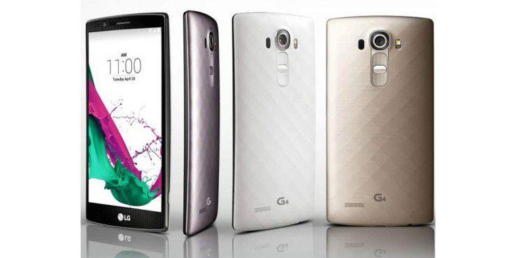 LG G4 mit Leder-Rückseite