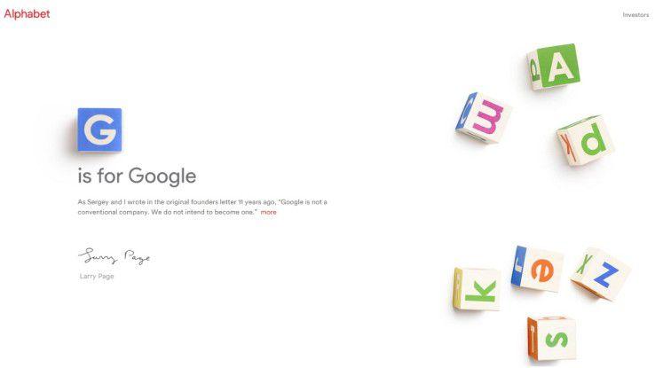 Die Alphabet-Homepage läuft bisher unter der Adresse abc.xyz