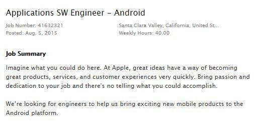 Stellenanzeige: Apple sucht Android-Entwickler