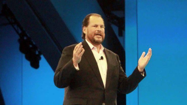 """Marc Benioff bezeichnete die Dreamforce 2015 als """"weltgrößten Software-Kongress"""" - bei über 170.000 Besuchern durchaus berechtigterweise."""