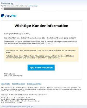 Über diese gut gemachte Spam-Mail wird die Malware verbreitet.