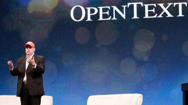 Mark Barrenechea eröffnete die OpenText-Konferenz.