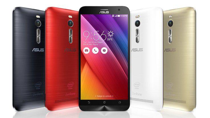 Das Zenfone-Smartphone von Asus zählt zu den wenigen Geräten mit Atom-Prozessor – in diesem Fall dem Quad-Core-SoC Z3580.