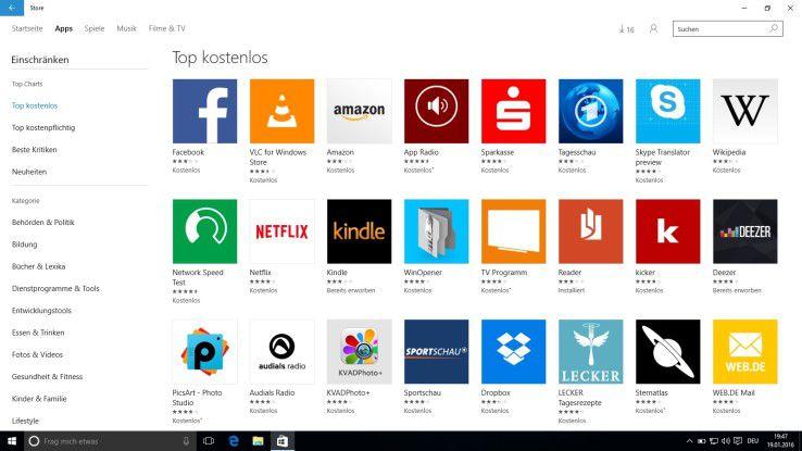 Beide Systeme setzen auf eigene App-Stores.