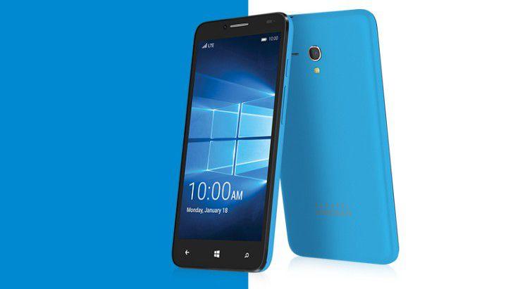 Mit dem Fierce XL hat Alcatel bereits ein Smartphone mit Windows 10 Mobile vorgestellt, wenn auch mit eher schwacher Ausstattung.