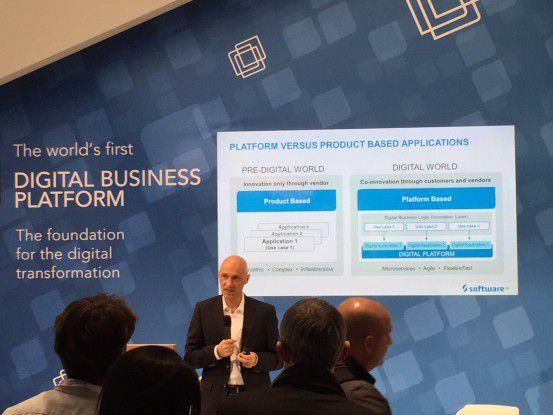 Wolfram Jost, Entwicklungsvorstand der Software AG, sang das Hohe Lied auf die Digitalisierung.