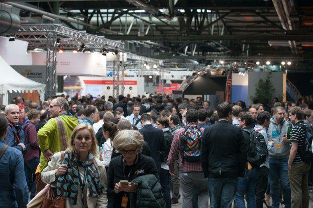 Gut besucht war auch der Ausstellungsbereich des AWS Summit.