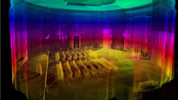 Der Ehrensaal des Deutschen Museums digitalisiert für die Indoor-Navigation.