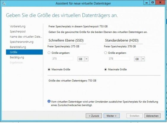 Windows Server 2016 bietet ebenfalls Software-Defined-Storage-Funktionen.