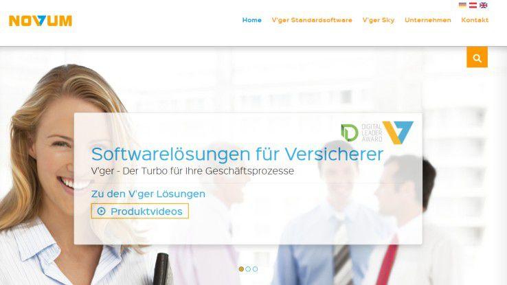 """Mit seinem Projekt """"Aufbau der Novum Cloud Plattform und Einführung des V'ger Sky Geschäftsfelds"""" hofft die Novum GmbH an, auf den Digital Leader Award in der Kategorie Invent Markets."""