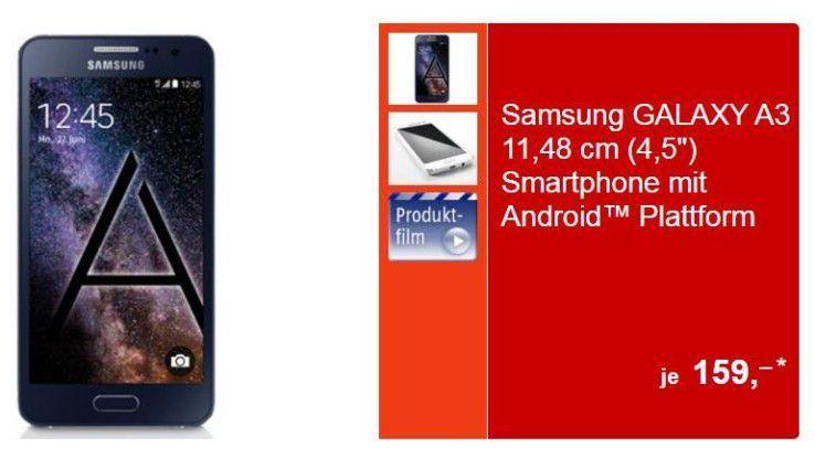 handliches samsung smartphone im metallgeh use schn ppchen check samsung galaxy a3 ab montag. Black Bedroom Furniture Sets. Home Design Ideas