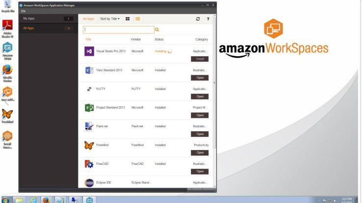 Mit Amazon WorkSpaces offeriert AWS einen verwalteten Desktop-Computing-Service in der Amazon-Cloud.