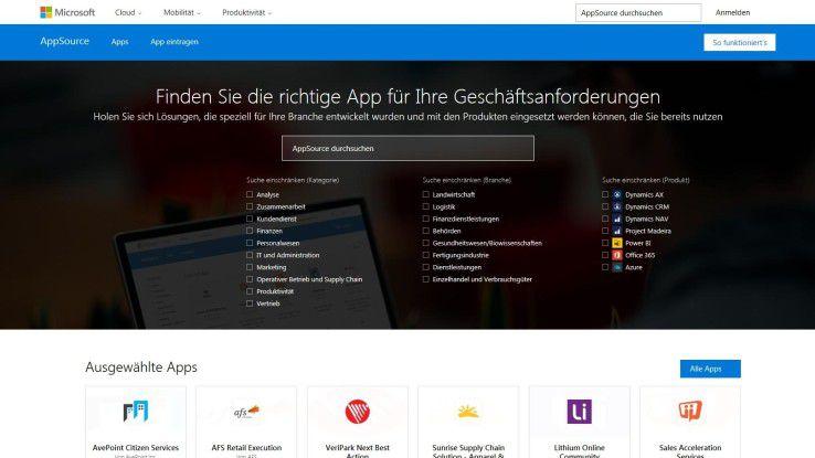 Mehr als 200 Apps soll es in Microsofts neuem App-Store AppSource zum Start geben.