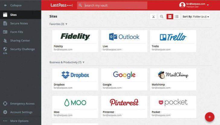 Lastpass ist ein cloudbasierter Kennwortdienst, der Zugangsdaten sicher speichert und dank Browser-Plug-ins automatisch dort einfüllt, wo sie benötigt werden. (Quelle: LastPass)