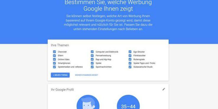 """Keine Lust auf """"Interessenbezogene Werbung"""" von Google. Hier kann diese Funktion deaktiviert werden"""