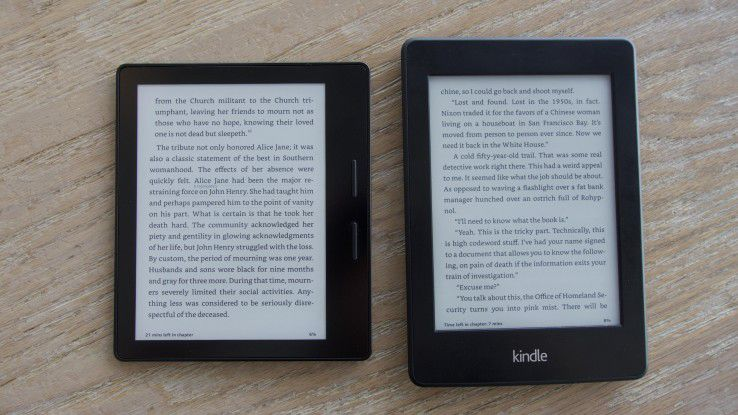 Kindle Oasis (left) vs. Paperwhite (right): in  the test we tell you if an update is worth on  Amazon's latest e-reader.