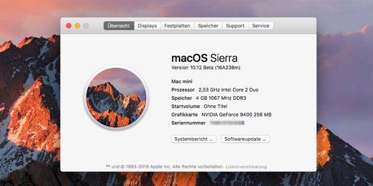Sierra kann auch auf einigen älteren Macs installiert werden.