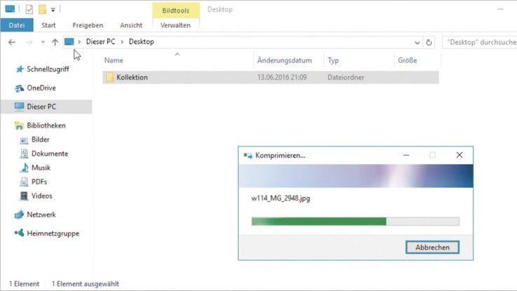 Schritt 3 - Dateien packen und entpacken