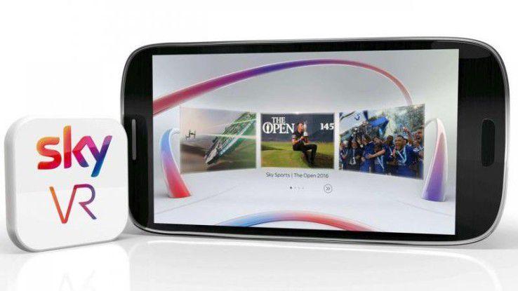 Die VR-App des Pay-TV-Senders Sky kann aus dem Google Play Store oder dem Apple App Store heruntergeladen werden.